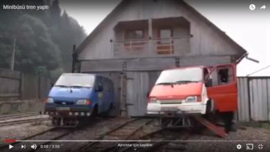 Photo of Minibüsü Tren Yaptı